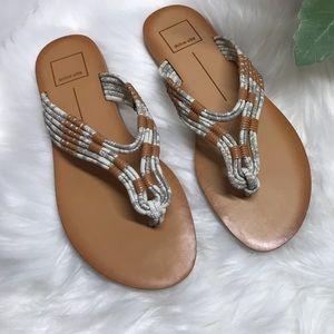 💗 Dolce Vita 💗 Genuine Leather Flip Flops NWT